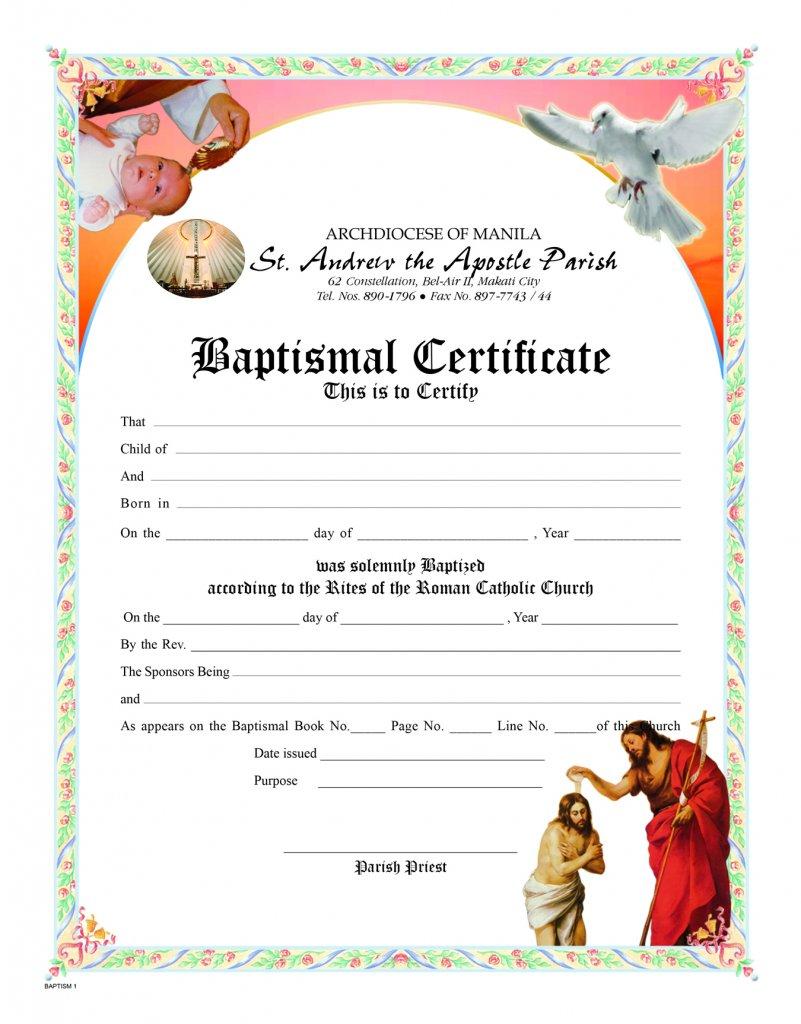 certificate baptismal certificates paper holy shmiqcp